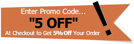 """5% Off when you use promo code """"5 OFF"""""""
